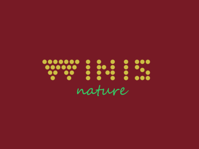Winis Nature Drink winis winis nature vino logo design nature grape grapes