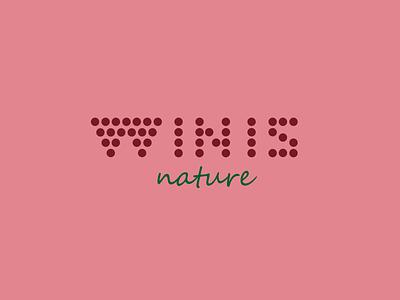 Winis Nature Rose grape winis nature winis logo logo design communication agency pavel surovy logo designer
