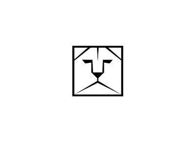 LionBox logo design communication agency pavel surovy logo designer design logo lion animal square lionbox box