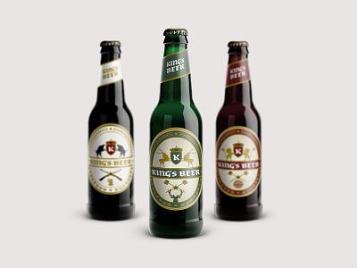 Kings Beer Labels lions kings deers packaging beer logo design logo logo designer pavel surovy communication agency brand wild boar