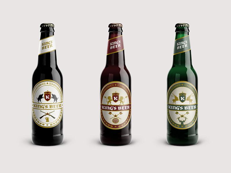 Kings Beer Packaging Design wild boar brand communication agency pavel surovy logo designer logo logo design beer packaging deers kings lions