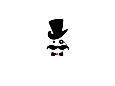 Gentleman monocle logo design brand