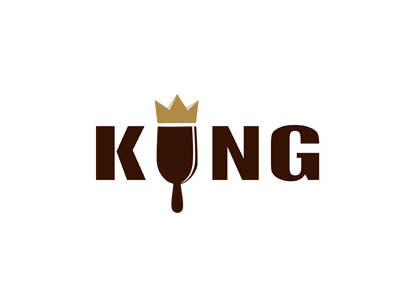 Ice cream king logo design