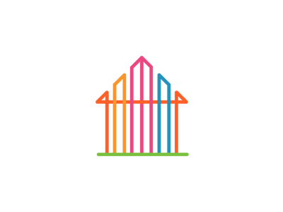 Real estate by communication agency dribbble for House logo design free