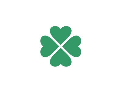 Kisac Village Logo (Hearts Four Leaf Clover) logo designer pavel surovy communication agency symbol brand branding logo design logo kisac kysac village mark old four leaf clover hearts