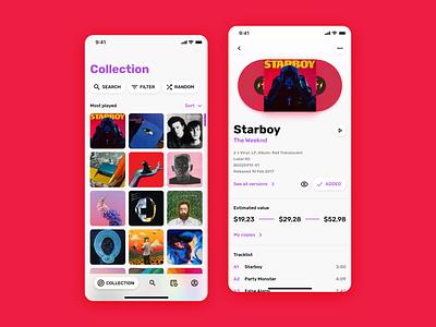 Discogs app redesign concept vinyl discogs music ui design interface ux uiux ui app ios android
