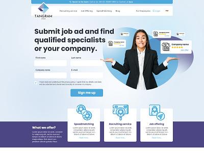 Recruiting Service Website website design website web design webdesign web