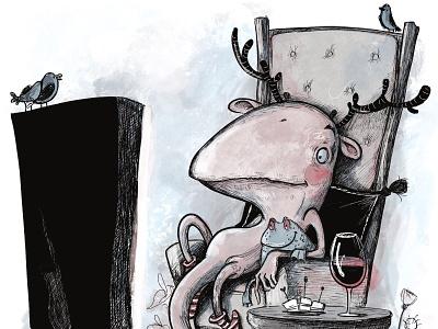 Monster on vacation illustration