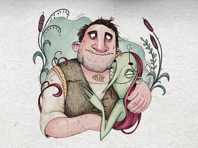 He & She illustration art procreate children book illustrator illustrations children book illustration charcter design book cartoon illustration