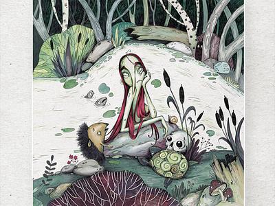 MARA. History of old swamps. Book for children. illustrations illustrator procreate illustration art book children book children book illustration charcter design cartoon illustration