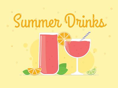 Summer Drinks vector cocktails drinks summer