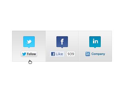 Social links social twitter facebook linked in