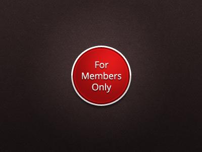 Members only badge badge seal shiny metallic