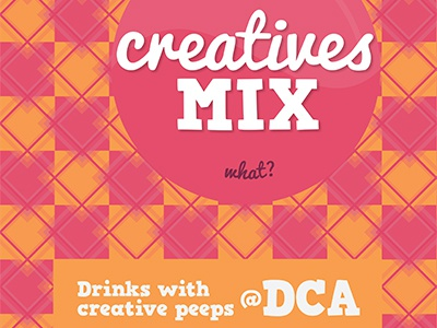 Creatives Mix Poster poster event illustrator type geometry