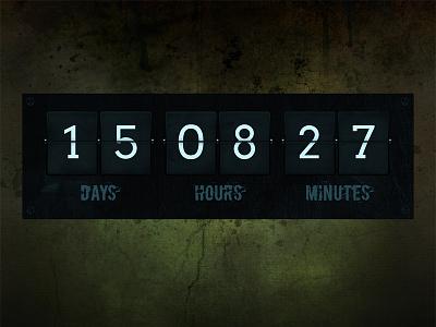 Dark grunge counter countdown counter grunge flip timer dark texture