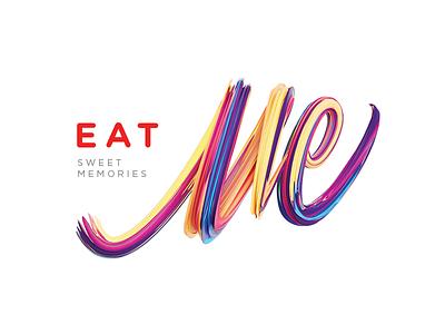 Eat Me sweet eat me brand logotype logo branding startup macarons cakes