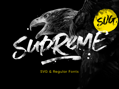Supreme Script + SVG regular logo branding handwriten font script svg
