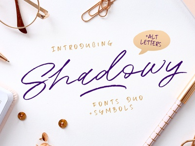 Shadowy Script + Symbols kavoon font marker instagram logo brush marker font design handwriting typography branding elegant script