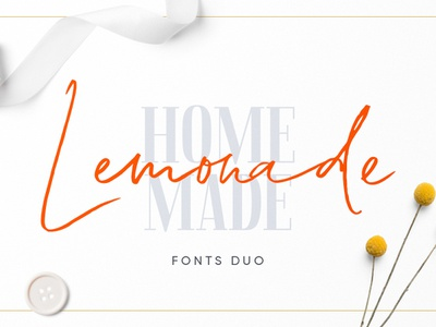 Lemonade Fonts Duo headline display modern instagram branding brush logo marker