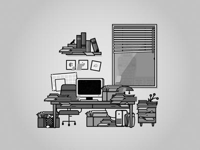 office. office disorden vector