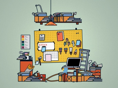 Hardware Store. tools vector scene