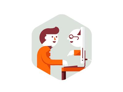 Great Customer Service. icon user friendly web