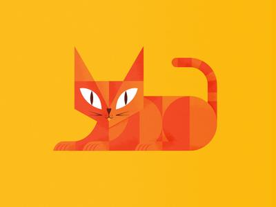 Orange Cat. cat vector orange