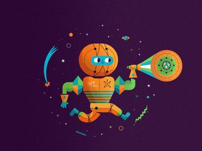 Amigo del espacio space character galaxy vector