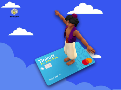 Tinkoff All Airlines Card tinkoff airlines tinkoff card 3d motion bank branding minimal card tinkoff motion design motion motion graphics ux ui logo illustration graphic design design animation 3d animation 3d