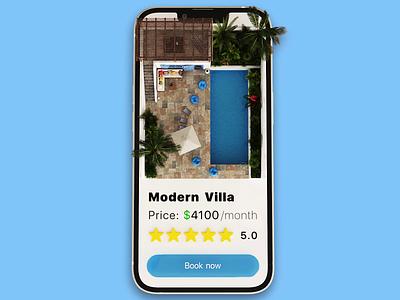 Vacation Rent App uxui rental app design vacation mobile app 3d animation motion design mobile rental app motion graphics 3d animation logo branding ui ux illustration graphic design design app