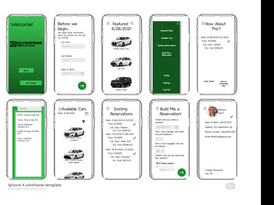 Mockup for Rental Agency rental car rental app mockup framer ux ui