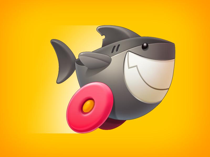 Sharky Shark speed iconpink ui shark toy