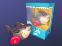 Sharky Shark in 3D