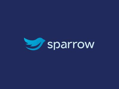 Sparrow Organizing Software sparrow logo logodesign branding typography wordmark minimal alexwende alexander wende