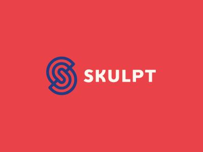 """Skulpt circular """"K"""" sculpture fitness mark alexwende symbol logo branding logodesign identity"""