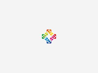 CYCLE WIP logo alexwende logodesign symbol mark abstract arrows negative space plus