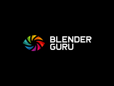 BlenderGuru Final negative space alexwende community blend swirl symbol mark iconic colorful abstract eye guru