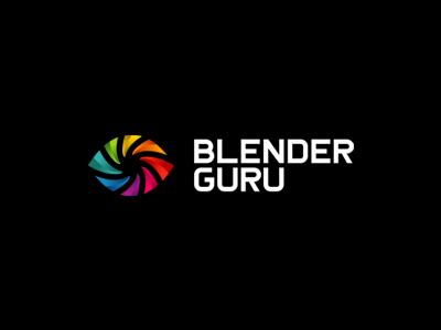 BlenderGuru Final negative space alexwende community blend swirl symbol mark iconic colorful abstract eye guru