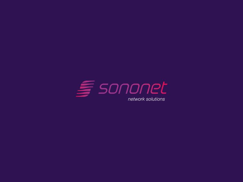 sononet logo network monogram speed mobile