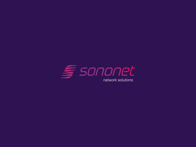 sononet logo network monogram speed mobile