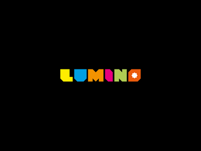 Lumino Logo  concept geometric typography minimal simplicity logo colors glow colorful light