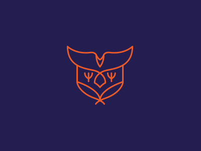 Eagle Badge shield line minimal bird feather badge logo eagle