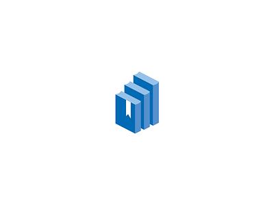 Career Development Logo bookmark book career stairs symbol mark logo professional development personal development