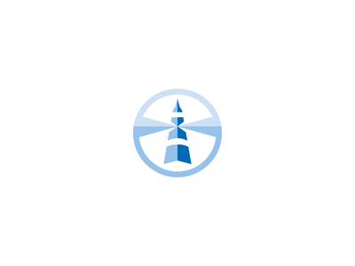 Career Development Logo compass career beacon lighthouse symbol mark logo professional development personal development