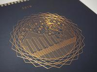 Christmas Card & Calender Cover print letterpress hot foil bronze cover