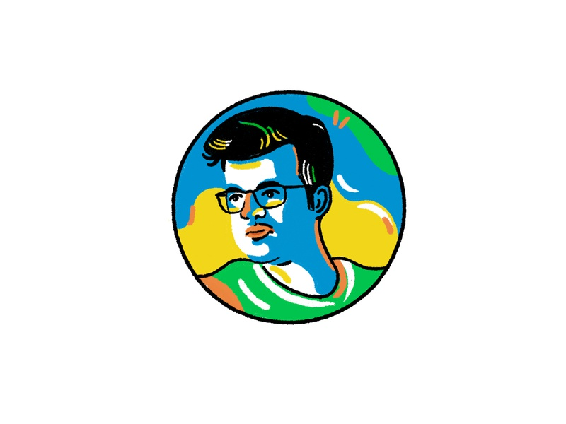 My friend portrait friend face portrait boy vector avatar iranian design character procreate illustration iran illustrator