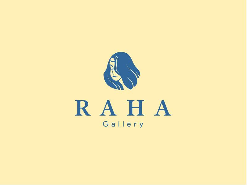 RAHA Gallery logo persian logo persian iranian woman womens girl gallery art carpet illustrator iran branding design logotype icon logo
