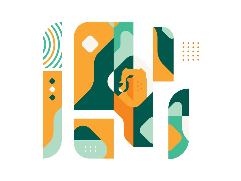 visual pattern - GityGard tourism nature cheetah visual identity visual design pattern design pattern branding vector iranian design iran illustration illustrator