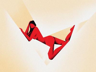 Nude study red persian women woman feminist nude girl avatar vector ipad pro procreate iranian illustration illustrator