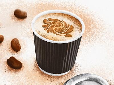 Paper Coffee Cup milk latte art persian love brown cup coffee shop coffee coffee cup ipad pro iranian procreate iran design illustration illustrator